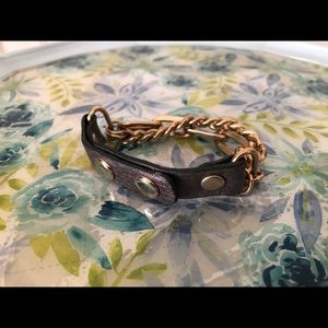 Jewelry - Metallic Leather Chain Bracelet